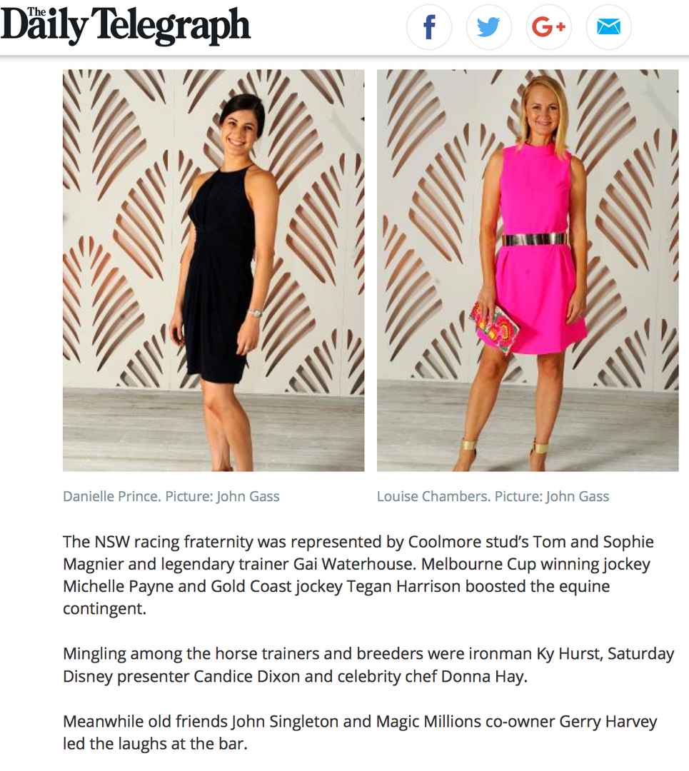 Daily Telegraph Louise Chambers Magic Millions