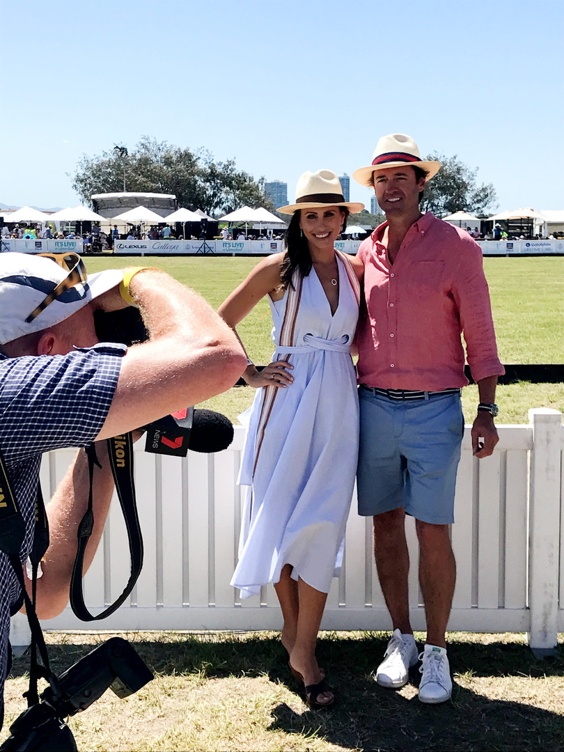 Amanda Abate Hamish McLachlan Magic Millions styled by Gold Coast stylist Louise Chambers Scanlan Theodore Ecua Andino Country Road
