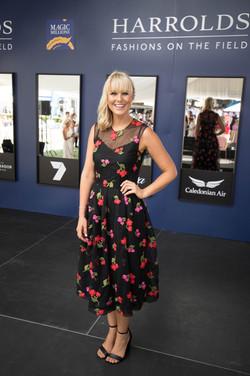 Candice Dixon in Simone Rocha Harrolds Calleija styled by Gold Coast stylist Louise Chambers