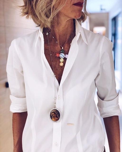 Susie Rejano White Shirt Brilliant BCN