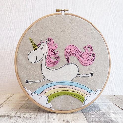 Unicorn Hoop Art front view