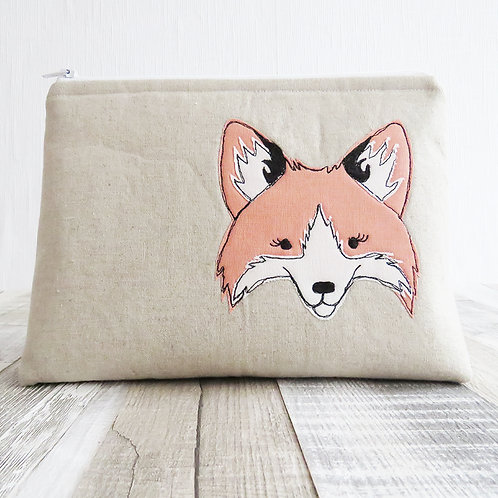 Fox wash bag, front view