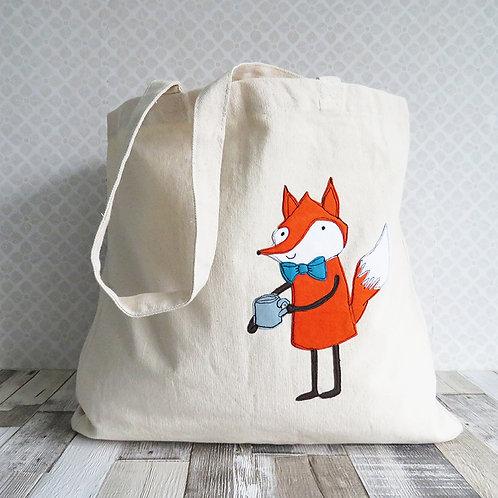 Fox canvas shopping bag