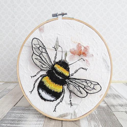 Bumblebee Hoop Art