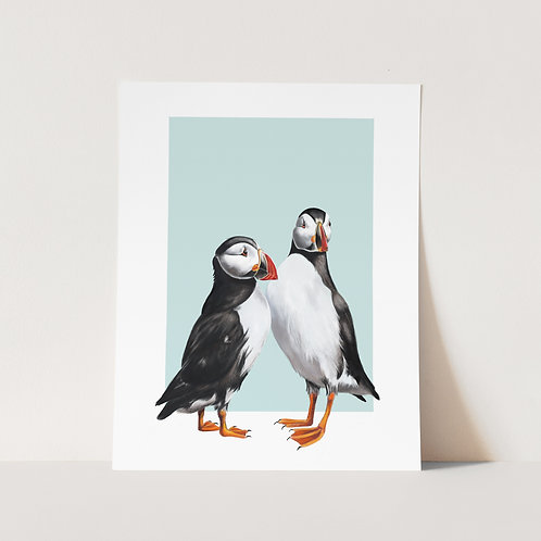 Puffins Limited Edition Print