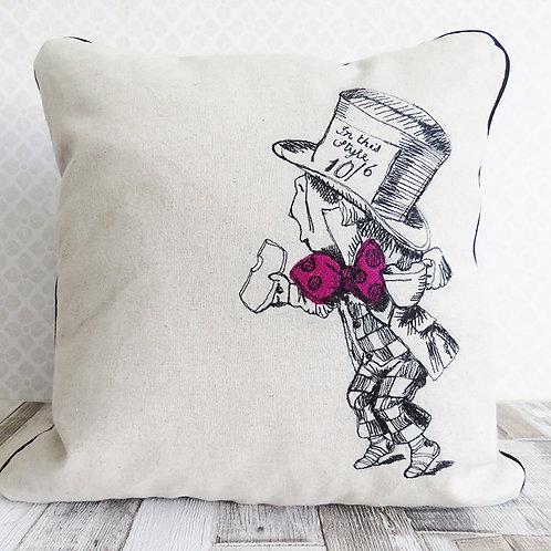 Mad Hatter Harris Tweed Cushion