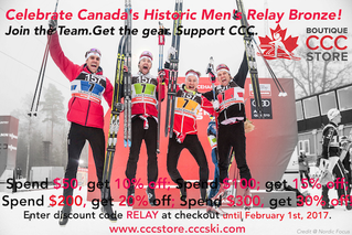 Celebrate Team Canada's Historic Mens Relay Bronze at C.C.C. Store
