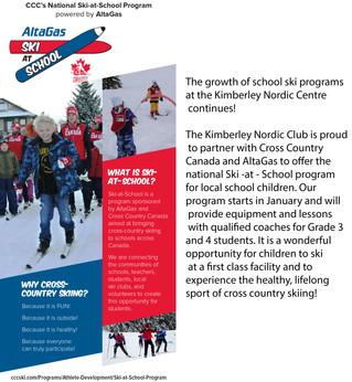 Kimberley Nordic and the Altagas Ski -at -School Program.