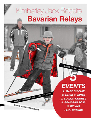 Bavarian Relays Games Day Postponed until this weekend, Sunday, Feb. 25th, 1:30-3:30pm.