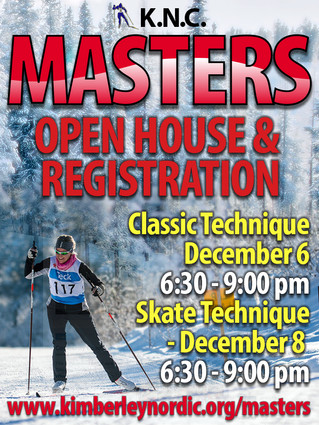 Masters Program Poster and Open House Dates.