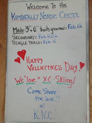 Happy Valentine's Day...We LOVE Skiing !