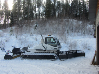 GREAT NEWS ! Big machine out grooming today, Monday Dec. 19th !