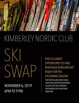 Nordic Ski Swap at KNC Wednesday, Novemebr 6th, 6:00-9:00 pm.