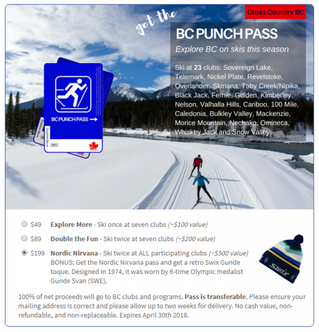 NEW! Explore lots of other British Columbia Ski Clubs with a B.C. Punch Pass or Have a Visitor Come
