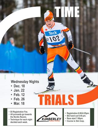 Time Trials Start Wednesday