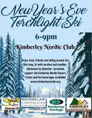 New Years Eve Torchlight Ski...Tonight.
