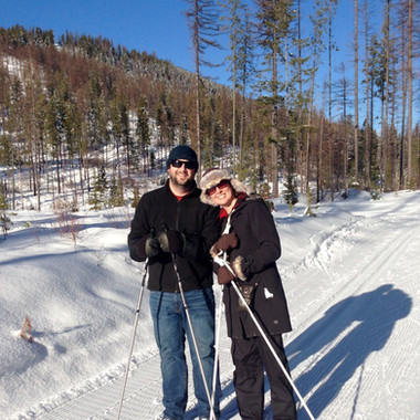 Mike's first xcountry ski by Florence Feehan