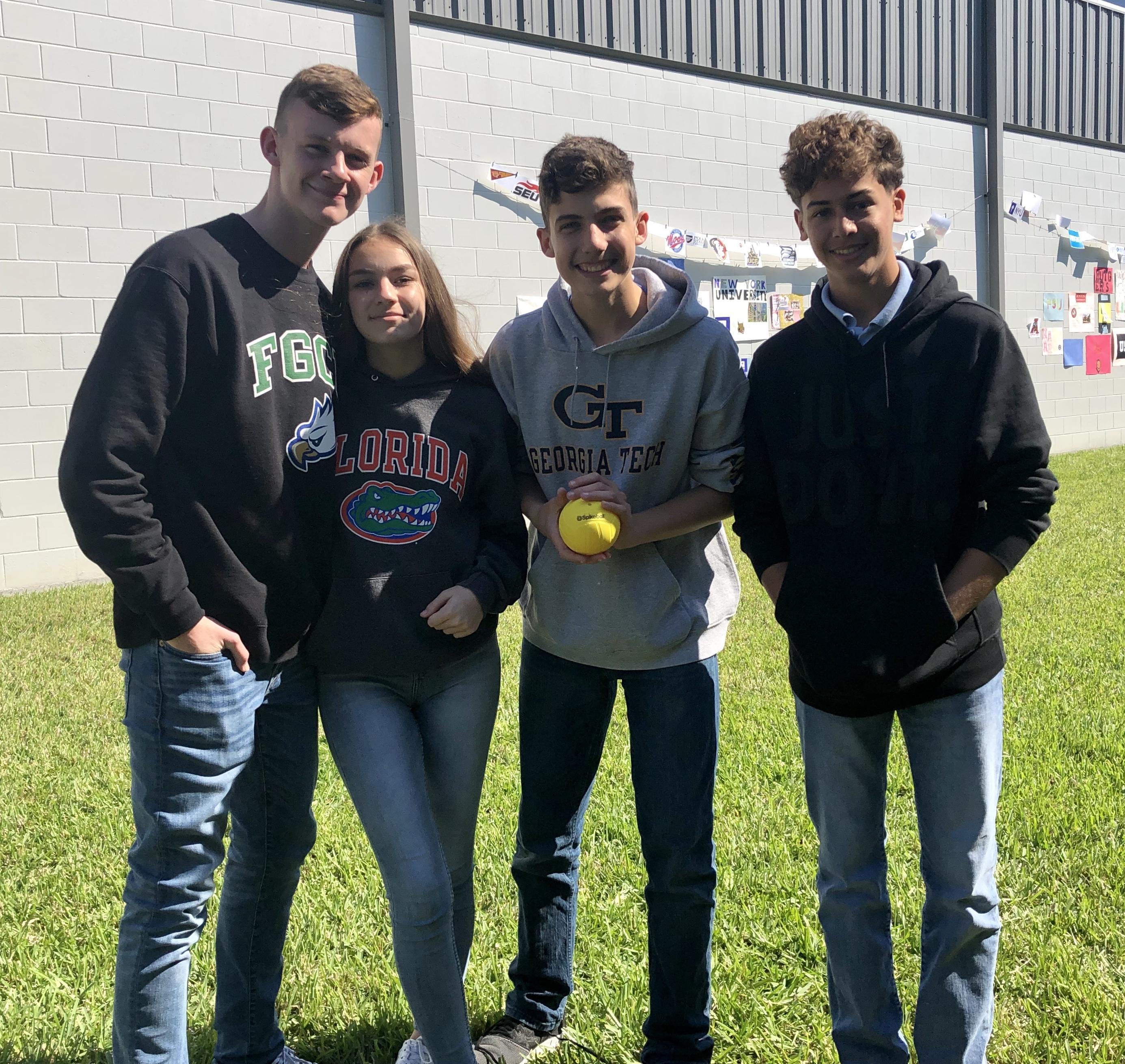 Carson, Ava, Alex, & Anthony enjoyin