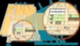 Схема расположения залов в подземном клубе Лабиринт