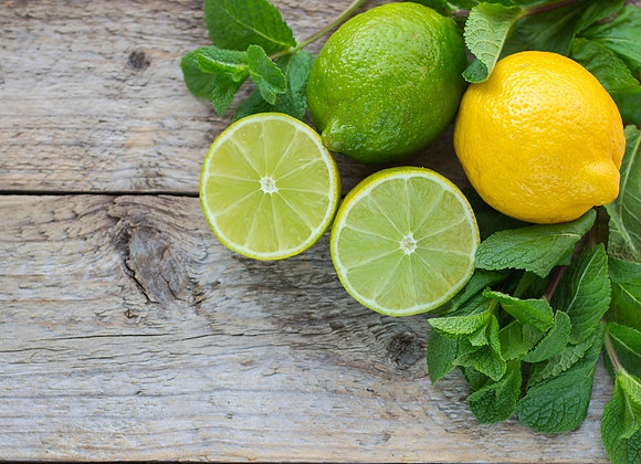 Polpa de limão com hortelã