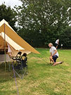 Ysella Bell Tent, luxury accommodation in Cornwall