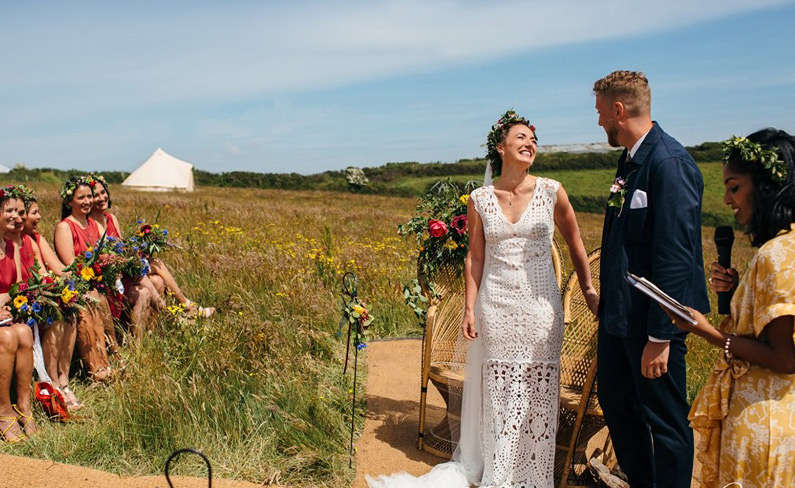 wedding glamping bell tent hire