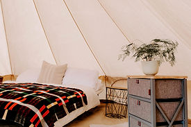 Cycle Holidays Cornwall, enjoy the day cycling & return to the luxury of your Ysella Bell Tent.
