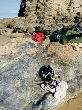 Cycle to the beach for a swim