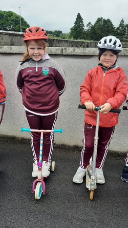 2nd Class took part in a Scooting Course with Lukasz from An Táisce