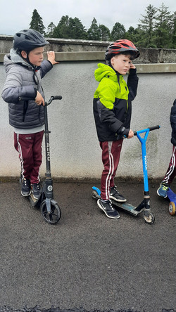 2nd Class took part in a Scooting Course with Lukasz from An Taisce