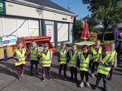 Junior Infants ready for the walk to school!