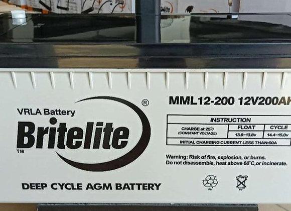 BRITE LITE Solar Battery 12v 200ah