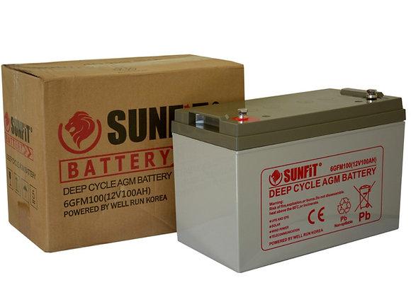 Sunfit Solar Battery 12V 100AH