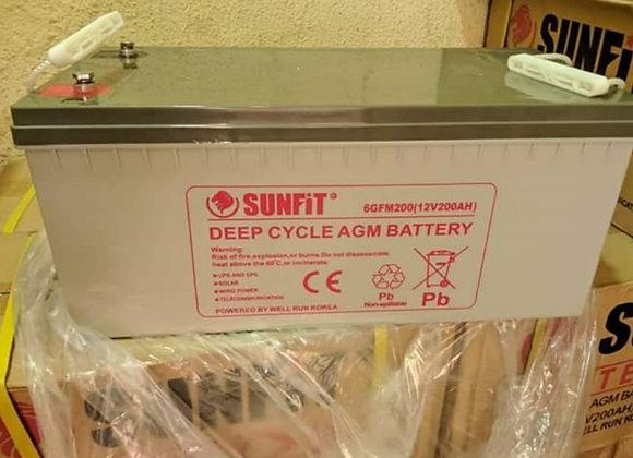 SUNFIT Solar battery 12v 200ah