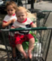 Isaac and Emmett in shopping cart-crop.j