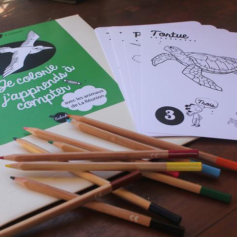 Les cartes à colorier pour apprendre à compter