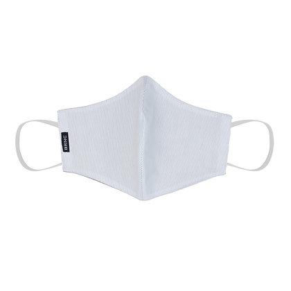 Máscara de Tecido - Tricoline 100% Algodão Cor Branco/Azul