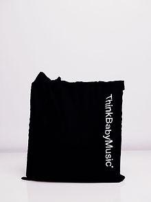 Thinkbabymusic: Logo On Canvas 100% CottonTote