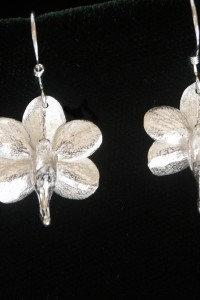 Ascocenda Orchid Earrings