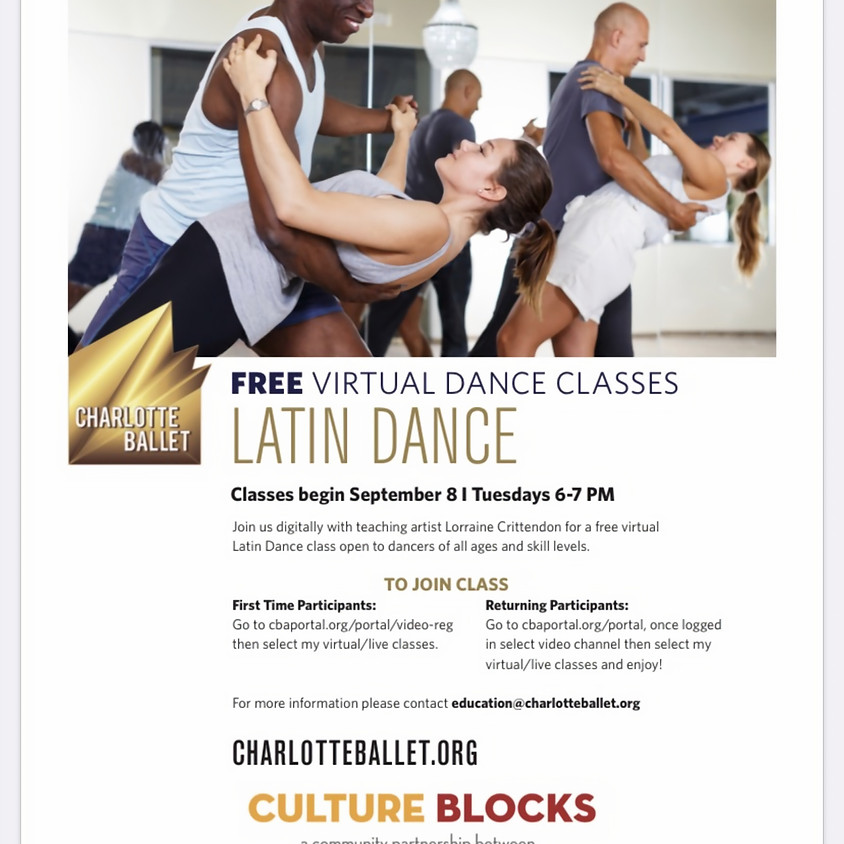 Charlotte Ballet presents: FREE Latin Dance classes with LCRITT