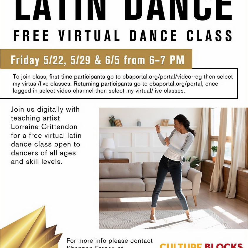 Latin Dance w/ LCritt *hosted by Charlotte Ballet*