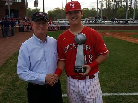 Hall names GA-BHS Baseball Player of Series award winner