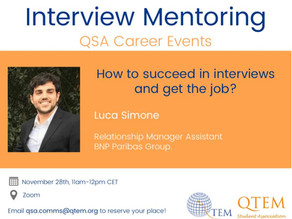How to succeed in interviews? Take part to our event to find out!