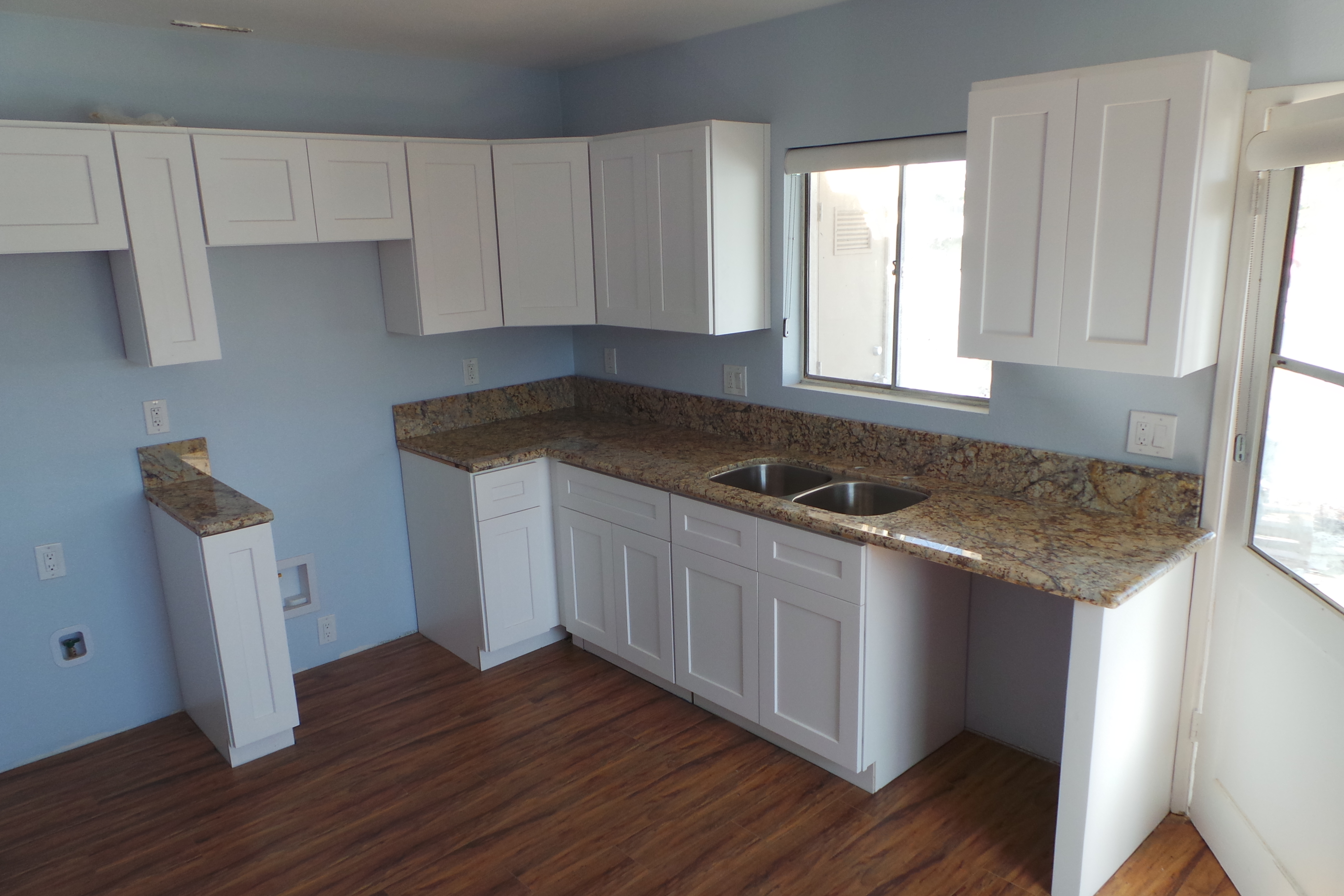 Mary Gold - White Shaker Cabinets
