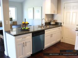 Quartz - White Shaker Cabinets