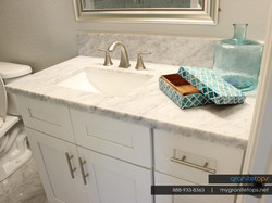 Marble - White Shaker Cabinets