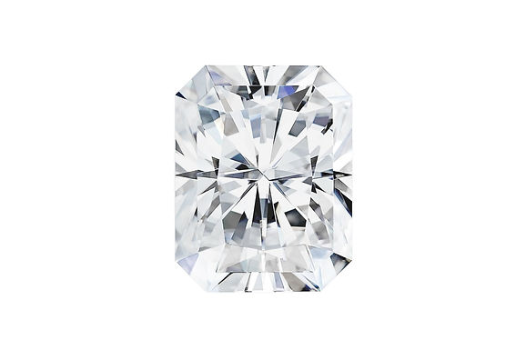 Radiant cut Forever One Moissanite Colorless