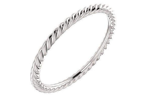 14K Skinny Rope Ring 1.5-MM