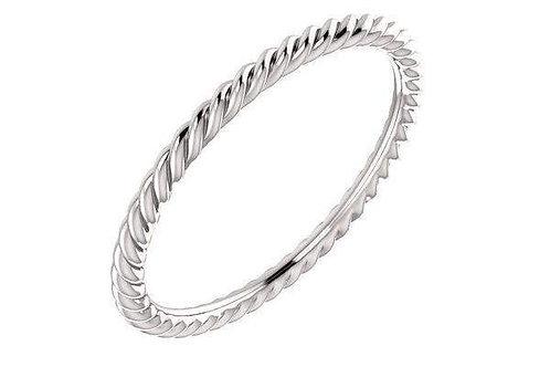 14K Skinny Rope Ring 1.5-MM