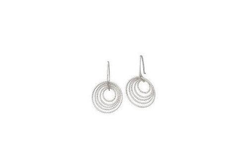Frederic Duclos 3D Circle Silver Earrings E270